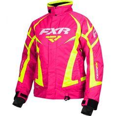 FXR Womens Fuchsia/Hi-Vis Snowmobile Team Jacket Snocross Snowmobile Clothing, Dirt Bike Gear, Team Jackets, Snow Girl, Winter Gear, Fox Racing, Snow Pants, Winter Sports, Outdoor Gear
