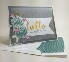 Pals Paper Crafting Card Ideas Gleason Mary Fish Stampin Pretty StampinUp