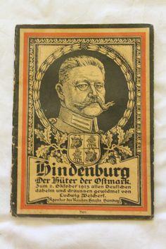 1915 German WWI Hindenburg patriotic booklet