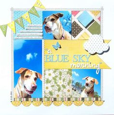 scrapbooking layout-perfect for a dog layout