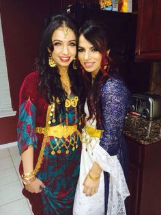 Traditional wedding kurdish clothes my cousin and I on her xazgini (engagement) night
