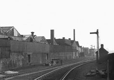View of the junction between Harborne Railway and the Stour Valley line seen in 1949