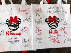 So doing this when we go to Disney next time! You can only have so many autograph books! Could also do this with a pillowcase!