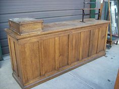 vintage retail counter antique country general wood counter glass 3253