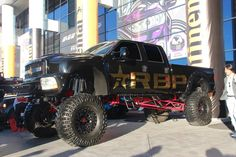 Red Bull Monster Truck If your truck's not lifted sky high, like the Red Bull monster truck, what are you even doing at SEMA?