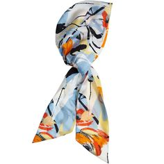 EUGENIA KIM Silk Floral Print Headscarf (€120) ❤ liked on Polyvore featuring accessories, scarves and eugenia kim