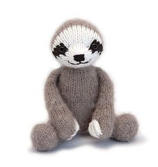 Knit Three-toed sloth. Pattern on rav