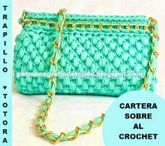 Patrones de Cartera Sobre tejida al crochet | Crochet y dos agujas