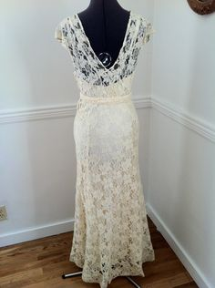 1930's Lace Dress w/Jacket - Back