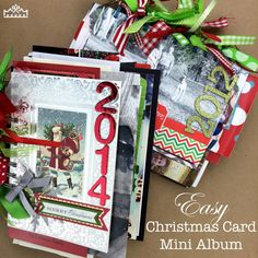 Are you unsure about what you should do with those stacks of Christmas cards? If so, then learn how to turn all of your Christmas cards into a mini album! Christmas Mini Albums, Christmas Scrapbook, Christmas Minis, Simple Christmas, Handmade Christmas, Christmas 2017, Beautiful Christmas, Holiday Crafts, Holiday Fun
