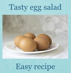 Easy egg salad, very tasty! no gluten, sugar or lactose, paleo-proof