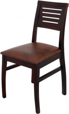Our 4 slat designer wood chair is made in the USA.