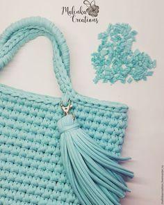 Вязаная сумка Mint Bag от Malinka_Creations