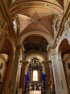 Milan (Italy): Ceiling and walls of the Church of Santa Francesca Romana