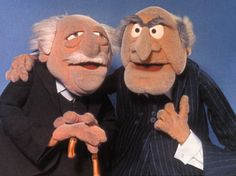 Statler and Waldorf - My favorite Muppets Jim Henson, Sesame Street Characters, Cartoon Characters, Childhood Tv Shows, Childhood Memories, Old Man Quotes, Old People Love, Frank Oz, 70s Tv Shows