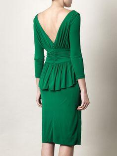 McQueen peplum dress. So. Beautiful. I'd feel like Mary from Downton Abbey:)