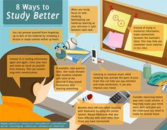 17 Scientifically Proven Ways to Study Better This Year - The Best Colleges studying tips, study tips College Hacks, College Fun, College Life, College Students, Study College, College School, College Essay, Law School, Study Tips For High School