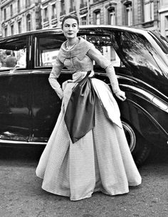 Patricia in an evening dress by Jacques Fath <3 1950