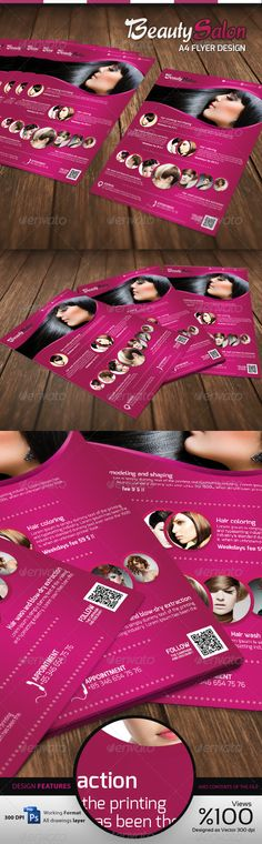 Beauty \ Education Flyers Fonts, Advertising and Flyer template - beauty salon flyer template