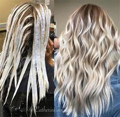 Trendy Hair Highlights : Balayage application & finished +Tips; Trendy hairstyles and colors Women hair colors; hair color Trendy Hair Highlights : Balayage application & finished +Tips Hair Color For Women, Cool Hair Color, Trendy Hair Colors, Hair Colour, Ombré Hair, New Hair, Blonde Hair Looks, Ice Blonde, Blonde Fall Hair Color