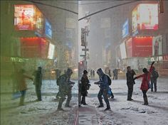 Our #NGTUK #PhotoOfTheWeek is by Dan Fairchild, of New Yorkers posing in the recent blizzards in Times Square. To enter, join the Flickr group pool and share your best travel photos: http://www.flickr.com/groups/natgeotraveller/pool