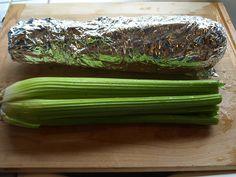 Celery and tin foil