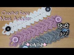 Knitting Paterns, Bead Crochet Patterns, Crochet Chart, Crochet Designs, Easy Crochet, Crochet Mask, Crochet Headband Pattern, Crochet Faces, Crochet Flower Tutorial
