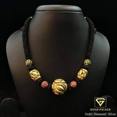 Gold Mangalsutra Designs, Gold Jewellery Design, Gold Jewelry, India Jewelry, Bead Jewellery, Designer Jewelry, Antique Jewelry, Beaded Jewelry, Fine Jewelry