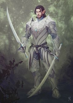 Elves Fantasy, Fantasy Races, Fantasy Armor, Fantasy Weapons, Fantasy Character Design, Character Design Inspiration, Character Concept, Character Art, Dungeons And Dragons Characters