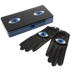 CAUSSE x YAZBUKEY (Gloves and clutch) http://en.colette.fr/catalog/product/view/id/375777/s/gants-14167agno1bi-x-yazbukey-noir-oeil/