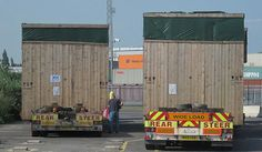 2 abnormal loads delivered by KINGS heavy haulage Southampton docks July 2013 2