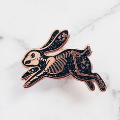 Skeleton Rabbit Pin by LOVEisSOUP