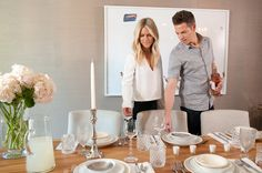 Spending quality time together is important to these newlyweds. Whether it's just the two of them or a house full of guests, they make time to come together around the table each night.