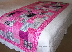 Bed Runner, Quilt, Baby Quilt, Baby Girl Quilt, Girl Quilt, Paris, French, Eiffel Tower, Cot Quilt, Crib Quilt, Busy Hands Quilts  Quilt For Sale  Pin Now and View Later!