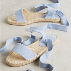 Splendid Jody Espadrilles - espadrilles were a shoe style worn by Teddy GirlsSplendid Jody Espadrilles Love the baby blue/pantone color of the year on these espadrilles!Shop Women's Splendid Blue size 6 Espadrilles at a discounted price at Poshmark. Espadrille Sandals, Shoes Sandals, Flats, Blue Espadrilles, Splendid Shoes, Mode Shoes, Vintage Mode, Mode Inspiration, Blue Suede