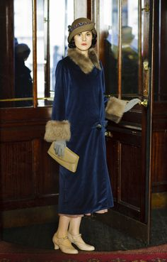 Mary leaves the Liverpool Grand Hotel, spring 1924.