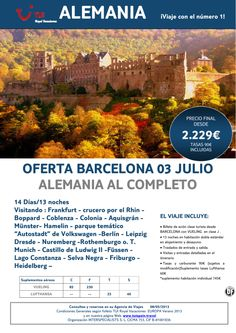 Oferta ALEMANIA al Completo salida desde Barcelona 3 de Julio. Precio final desde 2.229€ - http://zocotours.com/oferta-alemania-al-completo-salida-desde-barcelona-3-de-julio-precio-final-desde-2-229e-10/