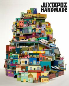 Spectacular Cardboard City – Cartonlandia by Ana Serrano Cardboard City, Cardboard Sculpture, Cardboard Houses, Cardboard Cartons, Cardboard Paper, Clay Houses, Paper Sculptures, Paper Houses, Sculpture Art