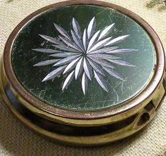 Vintage Pill Box Snuff Box Etched Silver by RosePetalResources, $18.00