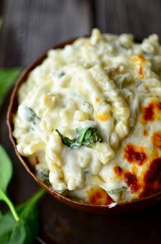 This Spinach Artichoke Macaroni and Cheese is good for you... right?