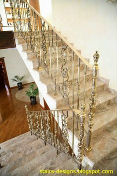 48 Stairs designs made in France and filled with the spirit of France, Stairs can be completed with crystals and semi-precious stones Banisters, Stair Railing, Railings, Luxury Homes Interior, Interior Design, Stairs Window, Door Fittings, Interior Stairs, Iron Work