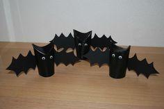 reuse paper roll halloween bats kids home decoration ideas