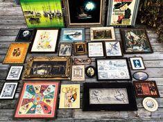 Vintage art pick - pinup girls, zodiac, black velvet, tintype photos, Vogue needlepoint, this house had it all!