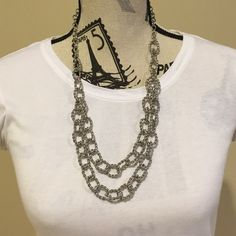 SALE Silver Chain Link Necklace Looks great with all colors. Only worn a couple times. It's in great condition. Charming Charlie Jewelry Necklaces