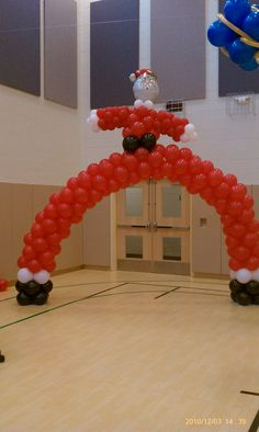 SANTA CLAUS BALLOON ARCH, interested, check us out on FaceBook @ NYC balloon squad