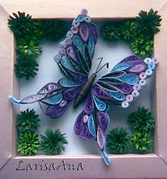 Love how this butterfly sits IN the frame, but the wings overlap it!