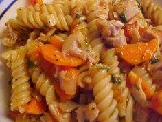 Fusilli au poulet et aux légumes à la portugaise (massada)