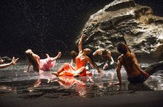 "My favorite work by Pina Bausch! Tanztheater Wuppertal perform ""Vollmond"" at Sadler's Wells Theatre.Photo by Tristram Kenton for The Guardian. Pina Bausch, Greek Chorus, Dance Dreams, Theater, Hip Hop, Modern Dance, Contemporary Dance, Stage Set, Dance Company"