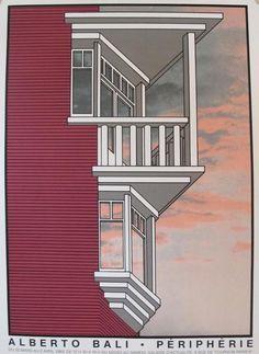 1983 Alberto Bali Architecture Poster