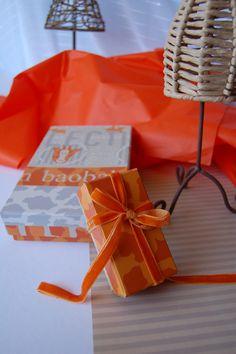 cajas hechas con los bellos papeles de papersome!